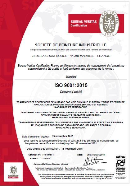 Certificat ISO9001:2015